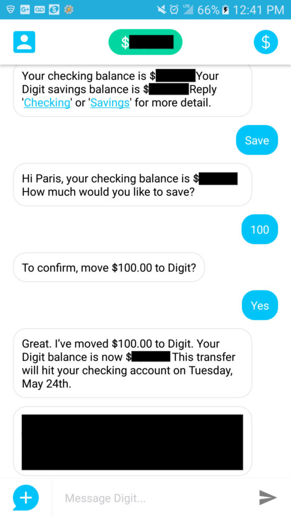 Saving $100 in Digit on the app digit vs qapital