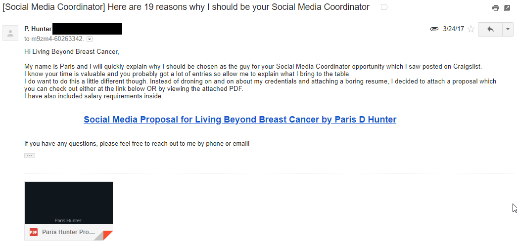 Living Beyond Breast Cancer Job Email