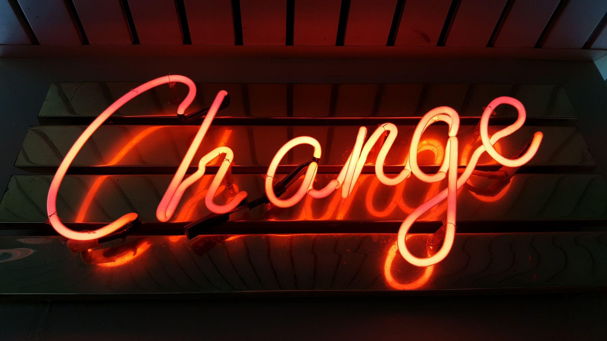 Change Photo by Ross Findon on Unsplash